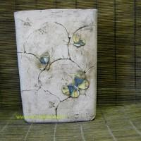 """Вазон""""Бабочки"""", д.22, ш.18. в.30см, цена 800руб"""