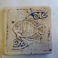 "Изразец ""Рыбка"", 20-20см"