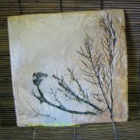 Плитка печная, растительные мотивы, 20-20