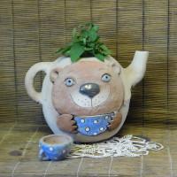 Чайник с чашкой , д.29см, в.27см, цена 1500р1б