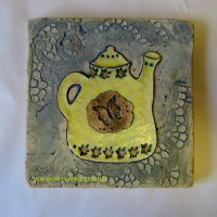 """Изразец """"Желтый чайник"""", 20-20см"""