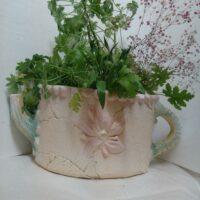 """Чайник ,"""" Весеннее настроение"""" 50*21*27 см, цена 3000 руб, для посадки цветов"""